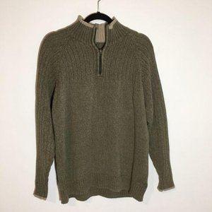 Columbia 1/4 Zip 100% Cotton Sweater Size M/L